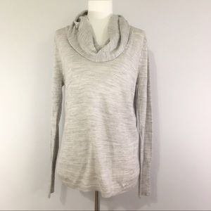 Ann Taylor Cowl Neck Grey Soft Sweater